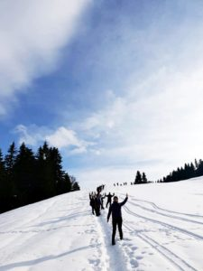 Drumetie in muntii Baiului 18 ianuarie 2020